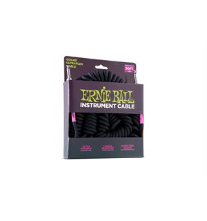 "Ernie Ball EB-6044 Coil Cable 30"" SS Black"
