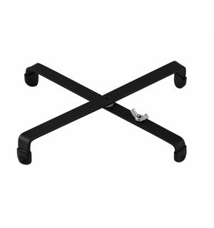 DIMAVERY Cross shaped stand For wind instrument stands, black