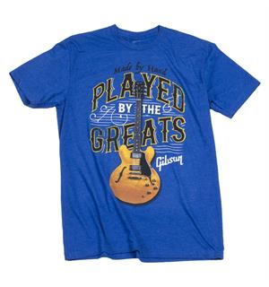 Gibson Played By The Greats T, Large (Royal Blue)