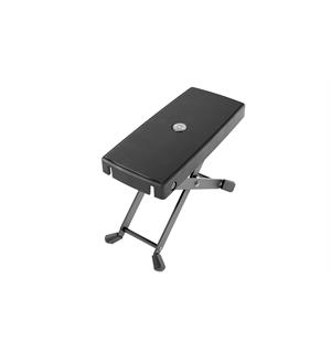 K&M 14640 Footrest, black Featherweight! Height: 105 and 180 mm.