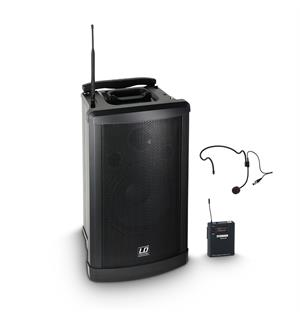 LD Systems Roadman 102 HS B 6 Portable PA Speaker with Headset