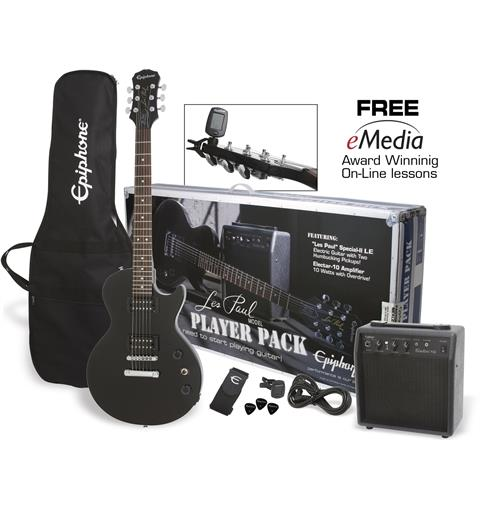 Epiphone Les Paul Player Pack Ebony (CF)