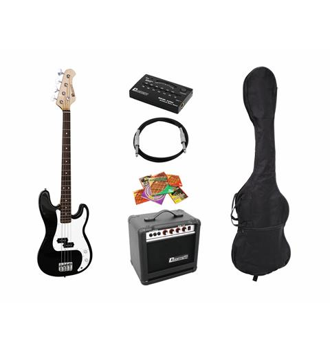 Dimavery BGS-10B El-bass-Set, black