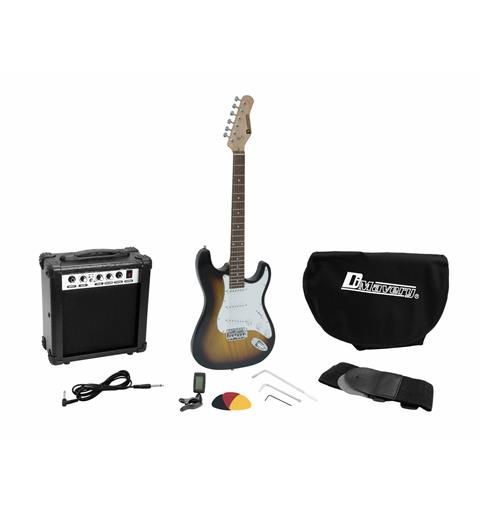 DIMAVERY EGS-1 Electric guitar set Sunburst