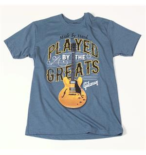 Gibson Played By The Greats T, Large (Indigo)