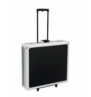 ROADINGER CD case, black, 200 CDs, with trolley