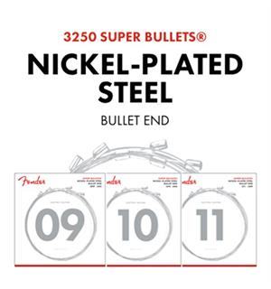 Fender Super Bullet Strings, 3250L (009-042) Nickel Plated Steel Bullet End