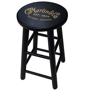 Martin Player Stool with Gold Logo Black Finish