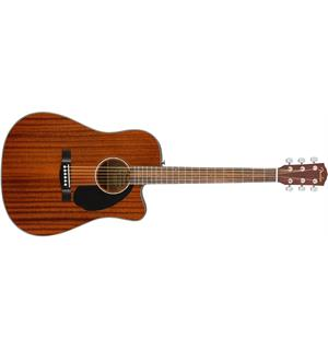 Fender CD-60SCE Dreadnought All-Mahogany Natural, Walnut Fingerboard