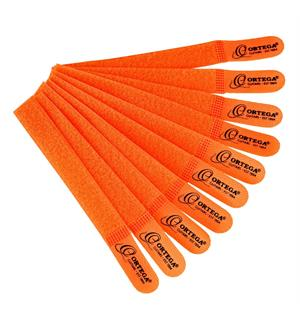 Ortega OCBT-10 Cable ties, hook & loop orange , 10-pack