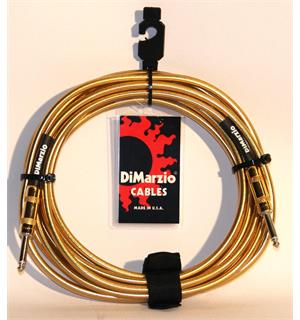 Dimarzio EP1718SSGM Instrumentkabel Braided 5,4 m. Gold Metallic