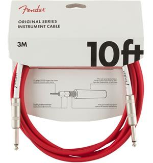 Fender Original Series Instrument Cable 10', Fiesta Red