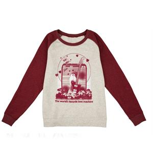 Fender Women's Love Sweatshirt Oatmeal and Maroon Velg størrelse