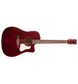 Art & Lutherie Americana Tennessee Red Cutaway, Godin Q1T electronics