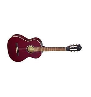 Ortega R121-3/4WR Klassisk gitar 3/4 Gloss Wine Red