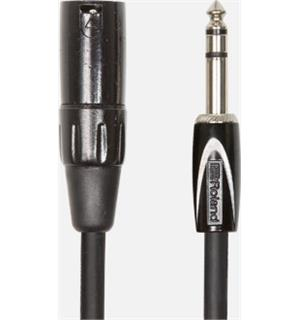 "Roland RCC-3-TRXM 1m Interconnect Cable 1/4"" TRS-XLR(MALE)"