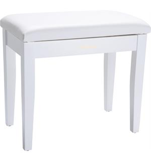 Roland RPB-100WH Piano Bench Satin White vinyl seat music compartment