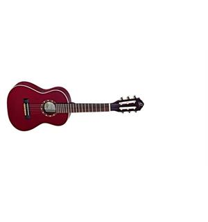 Ortega R121-1/4WR Klassisk gitar 1/4 Gloss Wine Red