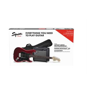 Squier Stratocaster HSS Pack Candy Apple Red, Gig Bag, 15G
