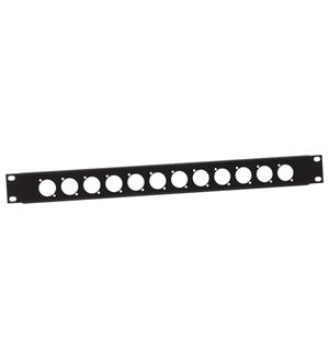 "Adam Hall 19"" Parts 872213 - U-shaped Rack Panel 1 U (punched)"