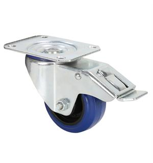 Adam Hall Hardware 372091 - Swivel Castor 80 mm with blue Wh