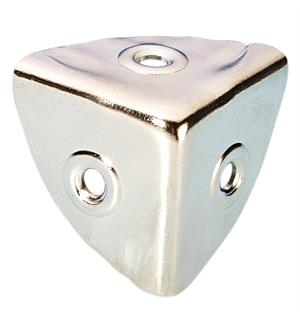 Adam Hall Hardware 4008 - Case Corner small nickel-plated