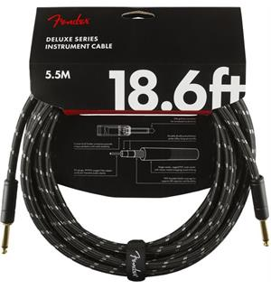 Fender Deluxe Series Instrument Cable Straight/Straight, 18.6', Black Tweed