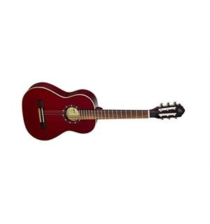 Ortega R121-1/2WR Klassisk gitar 1/2 Gloss Wine Red