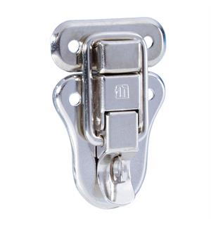 Adam Hall Hardware 16081 - Drawbolt large padlockable nickel