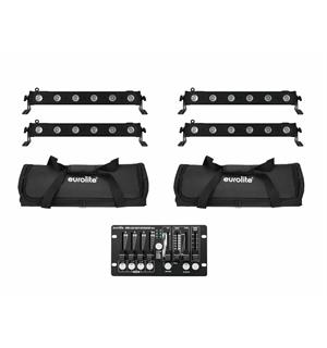Eurolite Set 4x LED BAR-6 QCL RGBW & 2x Soft Bags & Controller