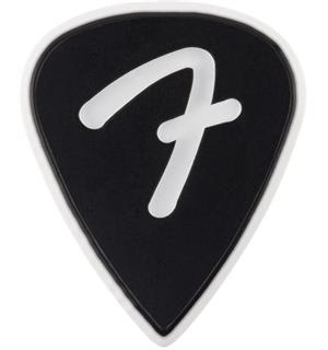 Fender F Grip 351 Picks, Black, 3 Pack