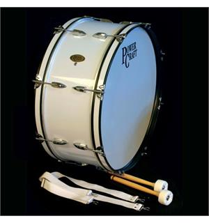 Power Craft PE-021A-10 Powercraft Marching bassdrum 26x10 White