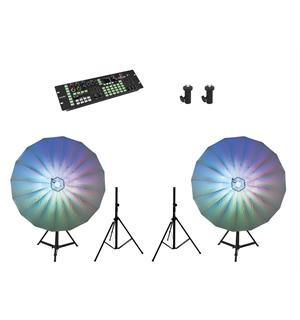 Eurolite Set 2x LED Umbrella 140 & 2x BS-2 & Color Chief DMX LED Controller