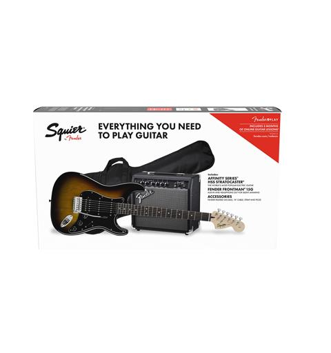 Squier Stratocaster HSS Pack Brown Sunburst, Gig Bag, 15G