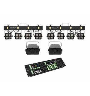 Eurolite Set 2x LED KLS-180 &  2x LED WF-40 & Color Chief DMX LED Controller