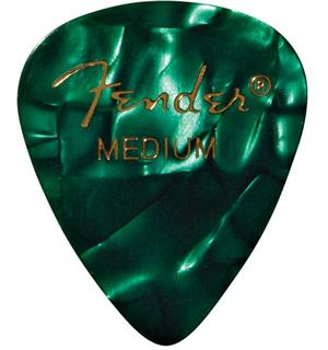 Fender Green Moto, 351 Shape, Medium (12PK)