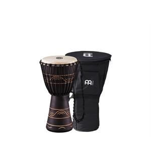 "Meinl ADJ4-M African Djembe, Medium m/Bag (10"") Black (G)"