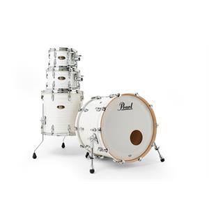 Pearl Masters Maple/Gum 4-pc. Shell Pack 22-10-12-16 Silver White Swirl (#187)