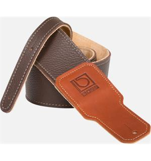 "Boss BSL-25-BRN 2.5"" Brown Guitar Strap Premium Leather"