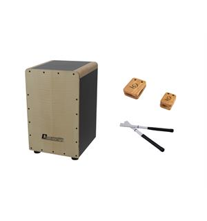 DIMAVERY Set CJ-540 Cajon with Castanets & Brushes