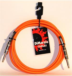 Dimarzio EP1710SSOR Instrumentkabel Braided 3 m. Neon Orange