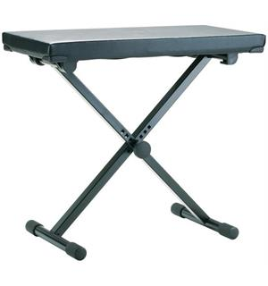 K&M 14075 Keyboard bench black leather