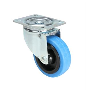 Tente 37033 - Swivel Castor 100 mm with blue Wheel