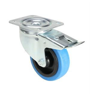 Tente 37034 - Swivel Castor 100 mm with blue Wheel and Brake