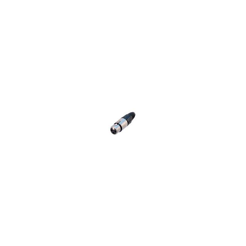 Neutrik Xlr Plugg 6p - Hunn Sølv