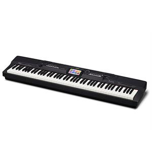 "Casio PX-360MBK Stagepiano med 5.3"" touch screen"
